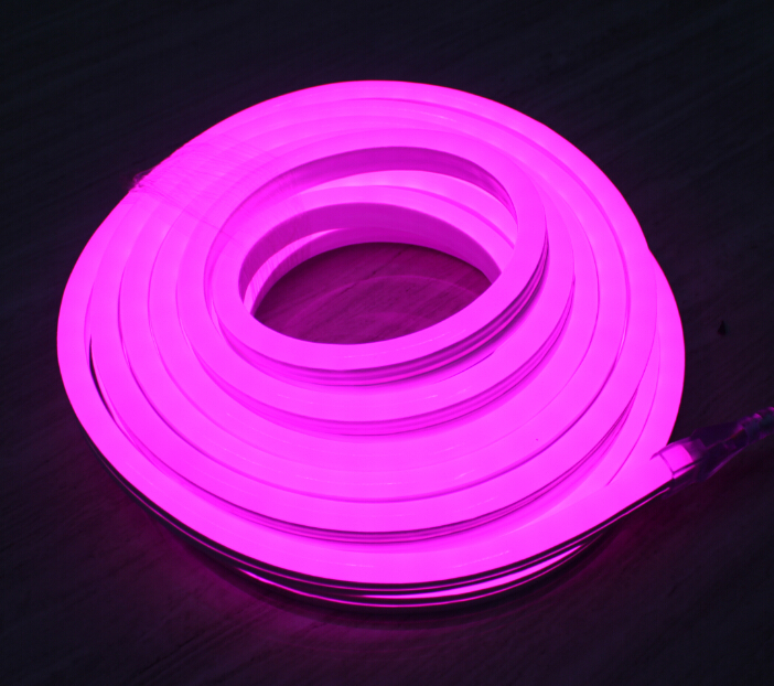 Image of   10m LED NEON fleksibel strip vandtæt, 24V, Violet, 120 LED, 10w pr. meter