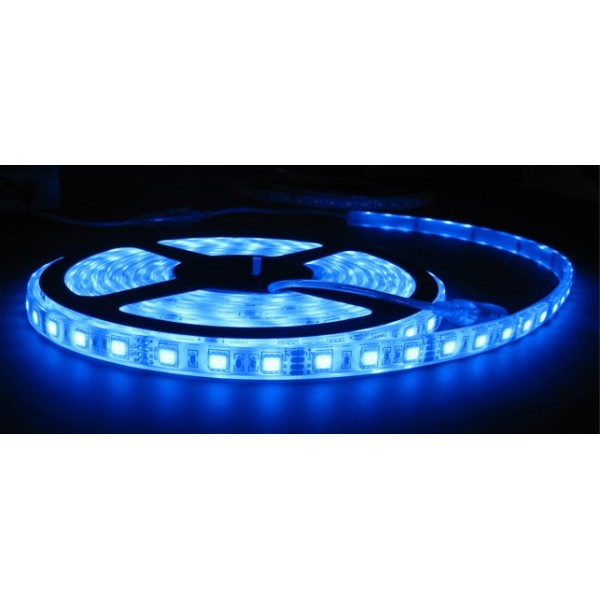 Image of   5m LED strip vandtæt, BLÅ, 30 LED, 7,5w pr. meter
