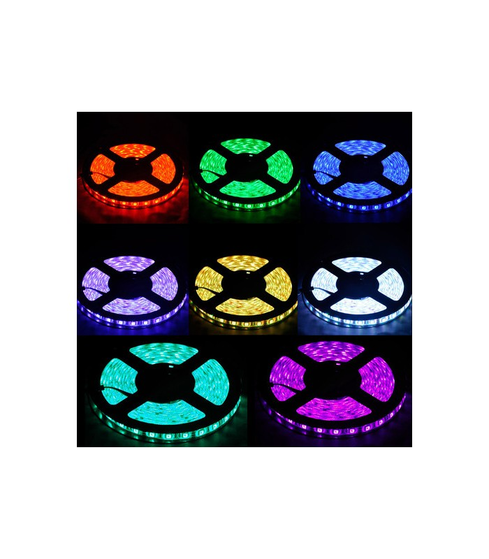 Image of   5m LED strip vandtæt, RGB, 60 LED, 9,6w pr. meter