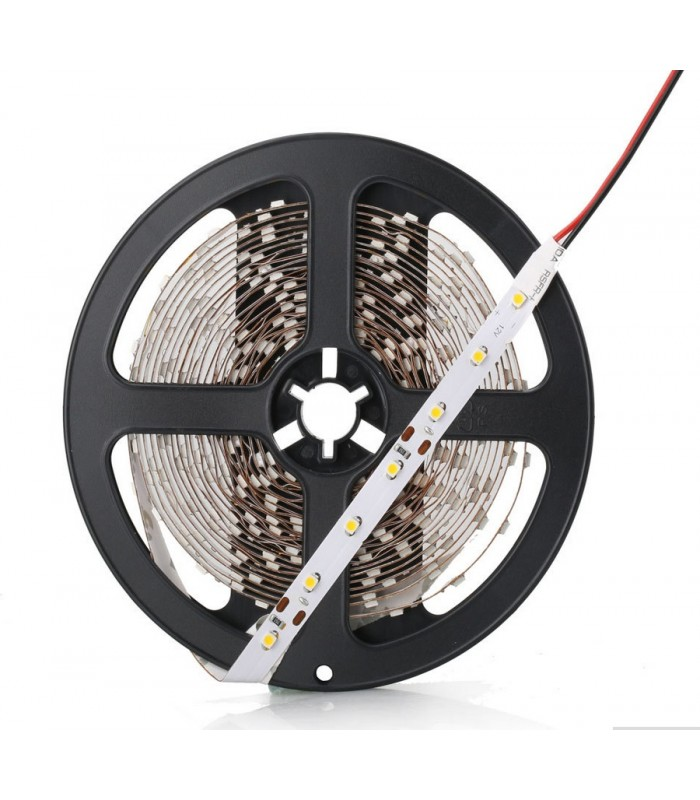 5m LED strip RGB, 60 LED, 4,8W pr. meter kun 8mm bred, IP21