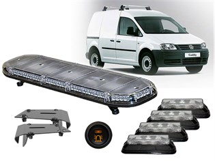 LED Flash-Kit, Caddy/Berlingo m/rails
