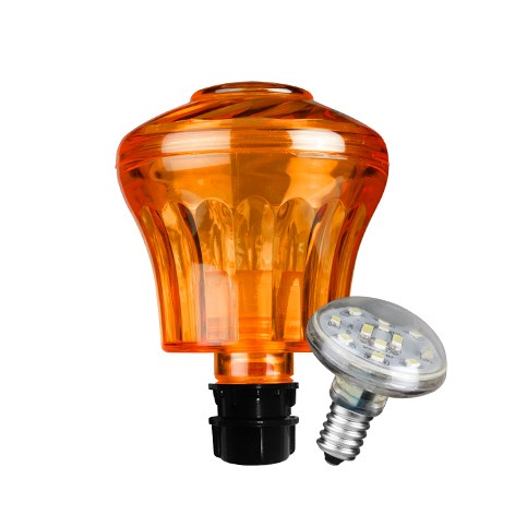Cabochon Combo klassisk Orange inkl led