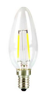 Image of   E14 LED pære 2W - Ligner normal pære, 180lm, 300 grade
