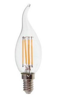 Image of   E14 - 4W LED flamme pære - Filament, varm hvid