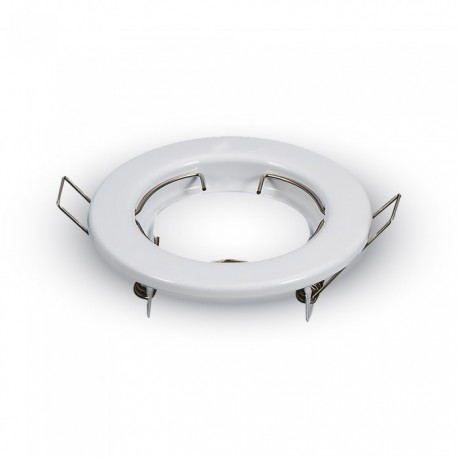 Image of   Downlight kit uden lyskilde. Hvid blank lakeret. Rund model. Incl. keramisk fatning GU10 (230V)